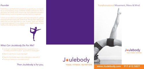 JouleBody Brochure and samples